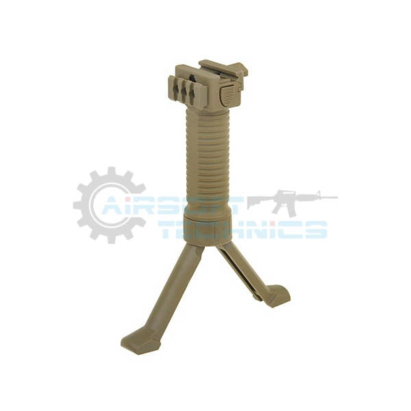 Maner frontal cu bipod telescopic si sina RIS tan ACM M51616257-TAN(6)